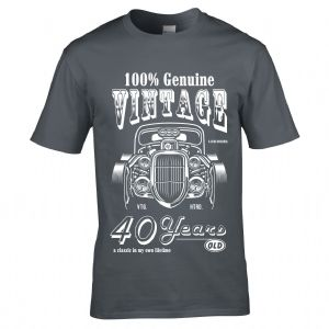 Premium 40 Year Old Legend In My Own Time Genuine Vintage Hot Rod Car 40th Birthday Gift T-shirt Top